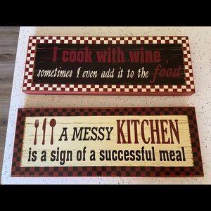 2 new kitchen signs